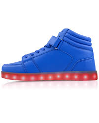high top light up shoes poseidon blue high top led shoes electric styles