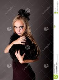 pretty makeup as a witch stock photography image 21077082