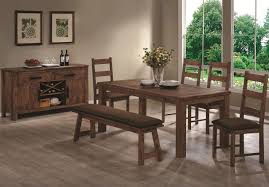 Rustic Wood Dining Room Sets Maddox Rustic Brown Wood Dining Bench Steal A Sofa Furniture