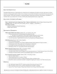 Insurance Resume Template Insurance Resume Format Free Resume Example And Writing Download