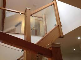 Glass Banister Kits Oak Staircase With Glass Balustrading Oak Staircase With Glass