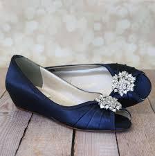 wedding shoes kitten heel navy blue kitten heel wedding shoe wedges with classic cluster