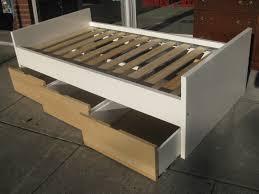 twin bed frame with storage diy storage decoration