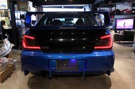 custom subaru bugeye car shop glow subaru impreza wrx sti gda gdb led tails final