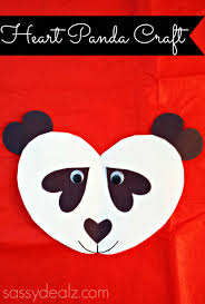 panda bear heart craft for kids diy art projects paper glue and