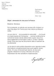 Lettre De Demande De Visa En Anglais lettre de demande de visa pour la mod礙le de lettre