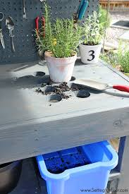 Outdoor Potting Bench With Sink Make It Diy Potting Bench With Sink Setting For Four