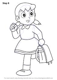 learn draw shizuka doraemon doraemon step step