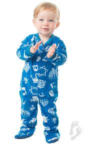 hanukkah clothing hanukkah infant fleece footed pjs infant pajamas one