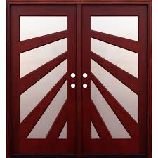 contemporary double door exterior pacific entries 72 in x 80 in contemporary 5 lite fan stained