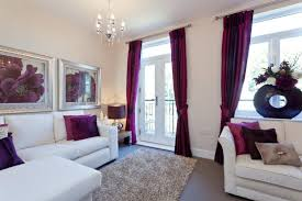 White And Purple Curtains How To Use Purple In Stunning Looking Living Rooms Living Room