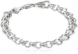 bracelet white gold images 14k white gold 7mm charm bracelet 7 25 quot jewelry jpg