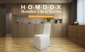 Spandex Chair Cover Rentals Amazon Com Homdox Universal 100pcs White Chair Covers Spandex