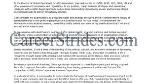 director of operations cover letter aviation cover letter example