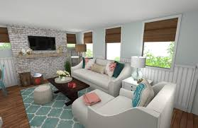 Online Interior Designer Beach Style Living Room Decorilla - Beach style decorating living room