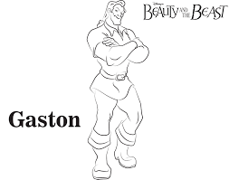 coloring pages appealing gaston coloring pages disney free
