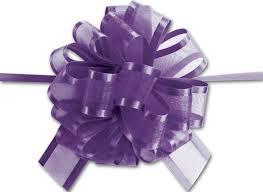 purple sheer satin edge pull bows bags bows