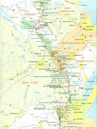 Connecticut State Map by Official Appalachian Trail Maps