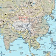 Physical Map Of China by Geomorphological Map Of China