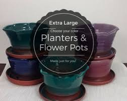 glazed planter etsy