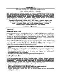 Sample Resume Event Coordinator Click Here To Download This Event Planner Resume Template Http