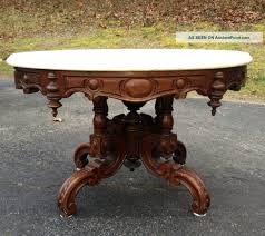 Victorian Coffee Table by Oval Marble Top Coffee Table Attr Thomas Brooks 1800 1899 Photo
