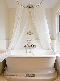 Clawfoot Tub Shower Curtain Ideas Curtains Wrap Around Shower Curtain Clawfoot Tub Luxury