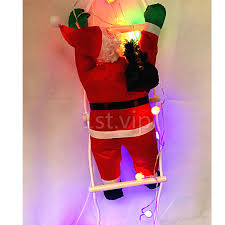 Outdoor Father Christmas Decorations Uk by Santa Climbing On Rope Ladder Inoor Outdoor Waterproof Christmas