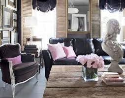 Pink Living Room Furniture Dark Gray Sofa With Pink And Gray Pillows Transitional Living Room