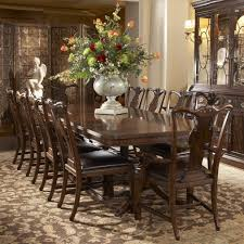 traditional rectangular double pedestal dining table by fine