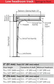 Overhead Door Clearance Sectional Door Track Details