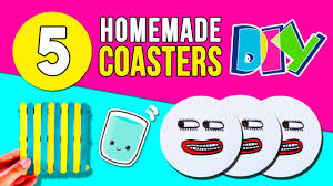 Homemade Coasters 100 Homemade Coasters Diy Crafts Coasters Using Ice Cream