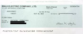 halloween personal checks maui electric co sends out monster refunds to ratepayers maui time