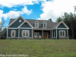 ranch farmhouse plans one or two story craftsman house plan car garage country houses