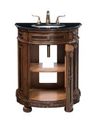 acco 29 inch antique bathroom vanity black marble countertop