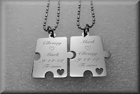 stainless steel puzzle necklace images Matching puzzle piece necklaces for couples necklace wallpaper jpg