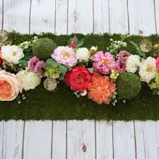 how to make a floral table runner flower spray silk flowers and