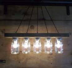 5 Jar Chandelier Jar Light Fixture Barn Wood Light Bar 5 Jar Light 28 L