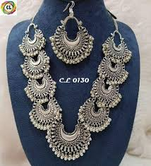 making silver necklace images German silver jewellery german silver necklace exporter from jaipur jpeg