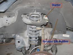 how to remove install a starter fix a clicking starter 2 7 liter