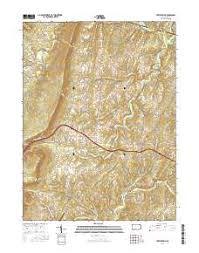 appalachian mountains on map appalachian mountains topo map in fulton county pennsylvania