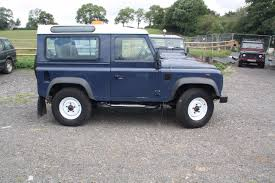blue station wagon second hand land rover defender station wagon tdci 2 2 for sale