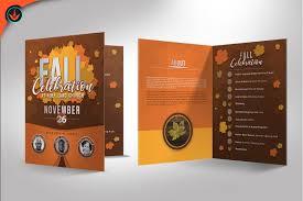 Church Programs Template Fall Celebration Church Program Templat Design Bundles