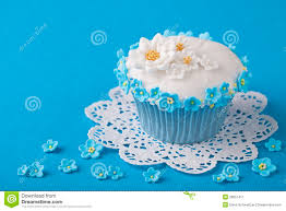 Top Cupcake Blue White Flower Wallpapers