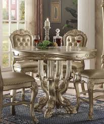 acme 63160 dresden gold patina counter height dining table ebay