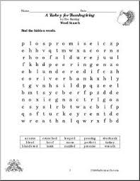 crossword puzzle thanksgiving color thanksgiving for children