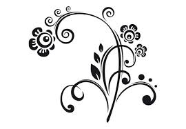 leonie floral wall decal beautiful flower ornament