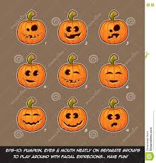 free jack o lantern clipart jack o lantern cartoon 9 funny n goof expressions set stock