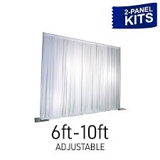 pipe and drape kits panel pipe and drape kit backdrop adjustable 6 10 ft