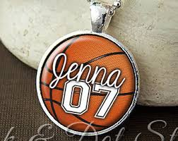 custom necklace charms basketball necklace etsy
